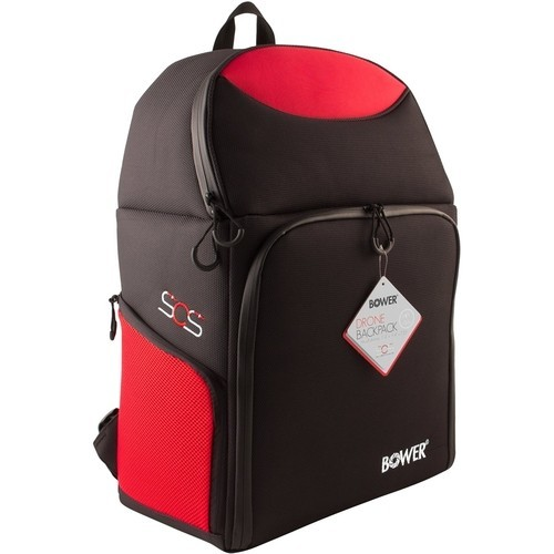 Bower - Sky Capture Series Backpack for Drones - Black/Red