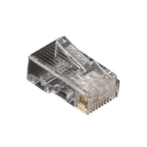 Black Box Corporation CAT5e Modular Plug - Network connector - RJ-45 (M) - CAT 5e - solid, stranded (pack of 250 (FMTP5E-250PAK)