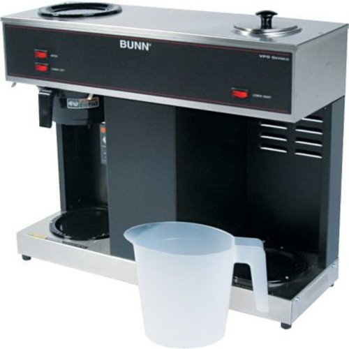 Bunn  Pour-O-Matic  3 Burner 12 Cup Pour-Over Coffee Brewer, Stainless Steel, Black