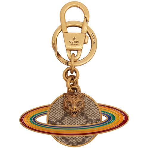 Multicolor Planet Saturn Keychain