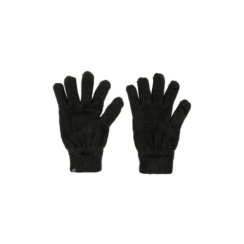 Plush Metallic Smartphone Gloves in Black
