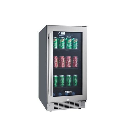 TITAN 80-Can Seamless Stainless Steel Built-In Beverage Cooler