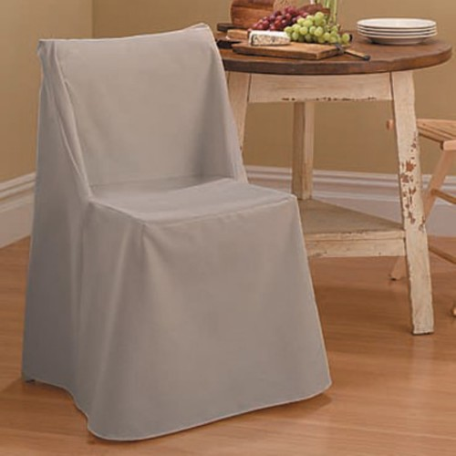 Sure Fit Cotton Duck Folding Dining Chair Slipcover