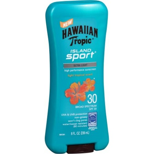 Hawaiian Tropic Island Sport Ultra Light Tropical Scent SPF 30 Sunscreen, 8 fl oz