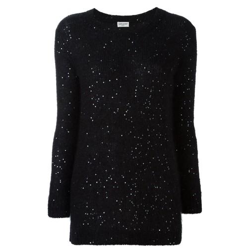 SAINT LAURENT Sequin Embellished Sweater