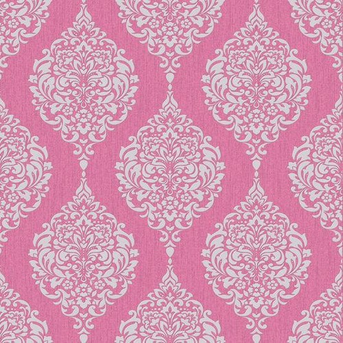 Sample Luna Wallpaper in Hot Pink from the Midas Collection by Graham & Brown