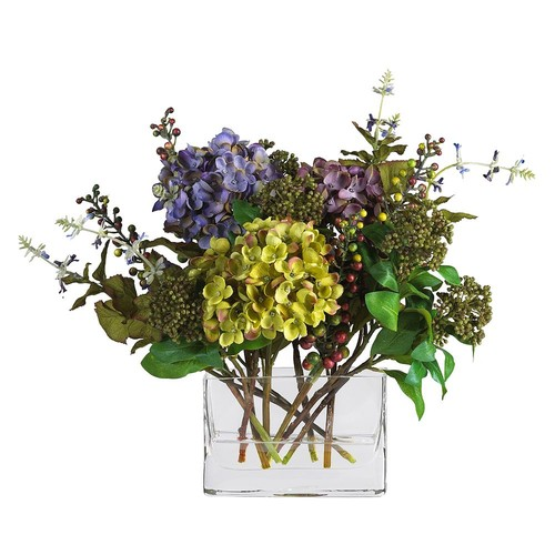 nearly natural Silk Hydrangea Floral Arrangement