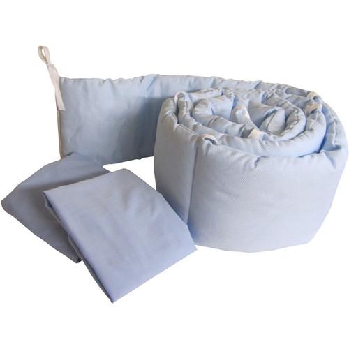Grandma's Package Pretty Pique Porta Crib Bedding [option : Light Blue]