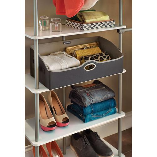 ClosetMaid Grey Fabric Storage Bin [option : Small]