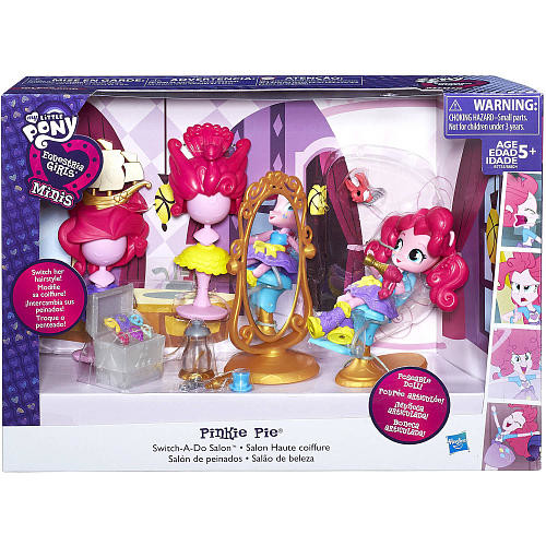 My Little Pony Equestria Girls Minis Pinkie Pie Switch-a-Do Salon Playset