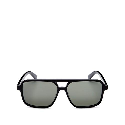SAINT LAURENT Brow Bar Square Sunglasses, 57Mm