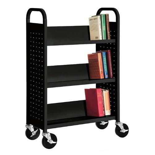 Sloped-Shelf Book Cart Color: Putty