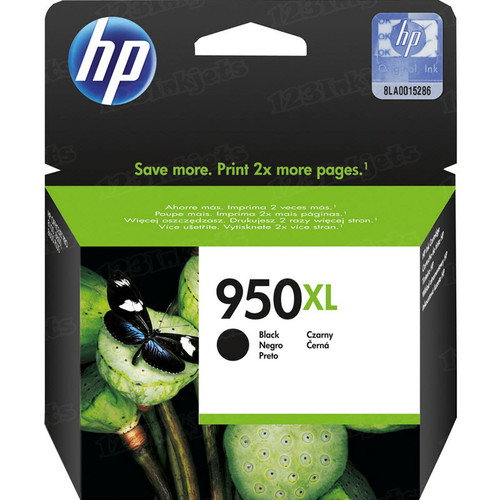 Hewlett Packard CN045AN (HP 950XL) High-Yield Black Original Ink Cartridge in Retail Packaging