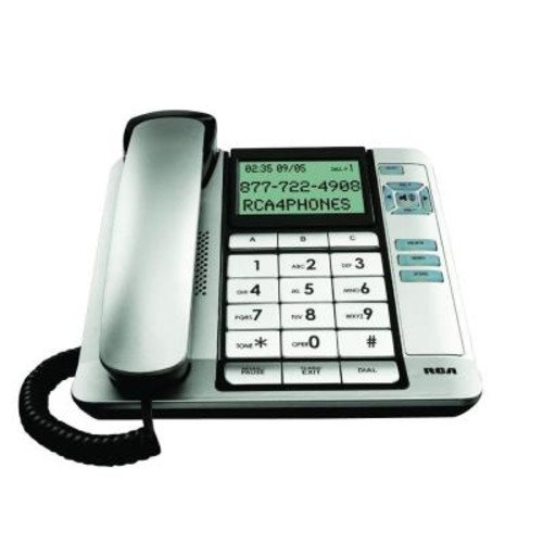 RCA Corded Office Telephone - Black/Silver