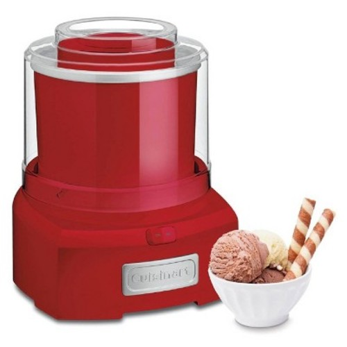 Cuisinart ICE-21R Frozen Yogurt, Ice Cream & Sorbet Maker, Red
