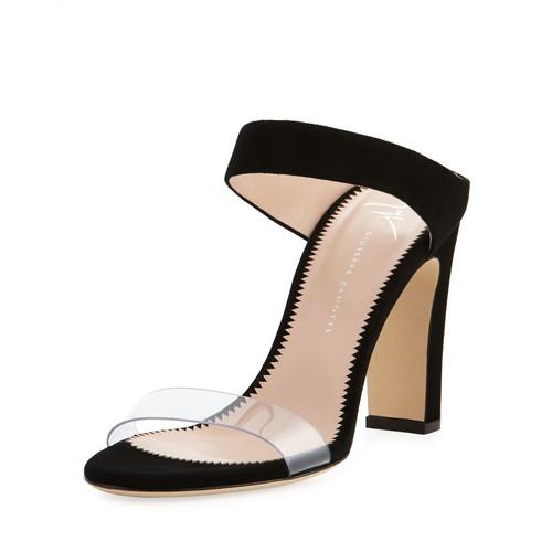 Illusion Suede 90mm Slide Sandal