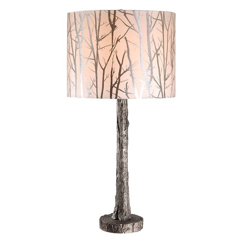 Kenroy Home Fleetwood 31 in. Antique Silver Table Lamp