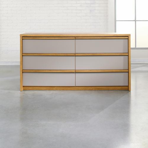 Sauder Soft Modern Pale Oak 6-Drawer Dresser