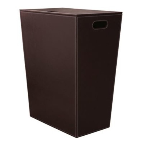 WS Bath Collections Complements Ecopelle Laundry Hamper; Dark Brown