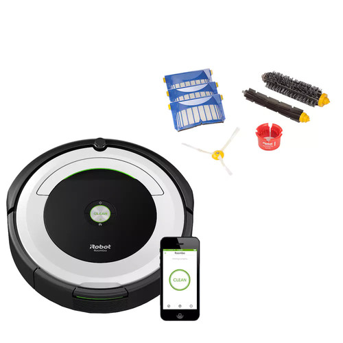 Roomba 695 Wi-Fi Connected Robotic Vacuum & Replenishment Kit