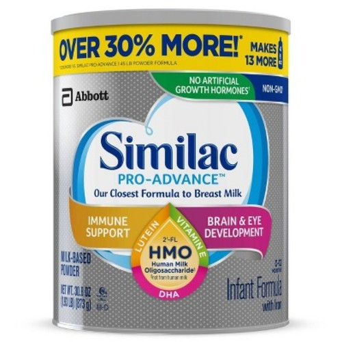 Similac 4pk Pro-Advance HMO Infant Formula Powder Value Size - 30.8oz