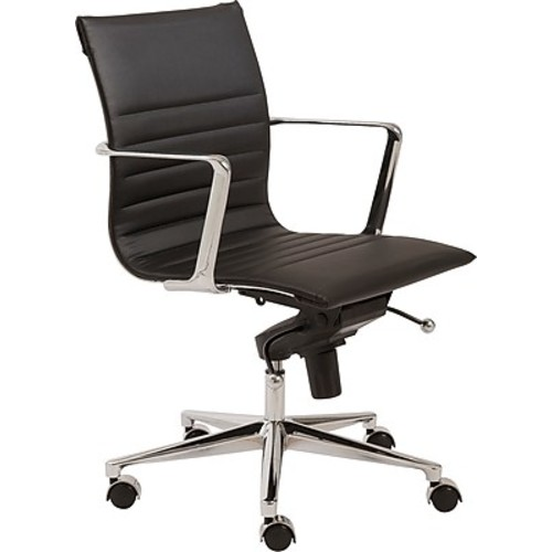 Euro Style Kyler Leatherette Low Back Office Chairs