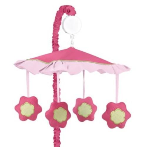 Sweet Jojo Designs Flower Musical Mobile in Pink/Green