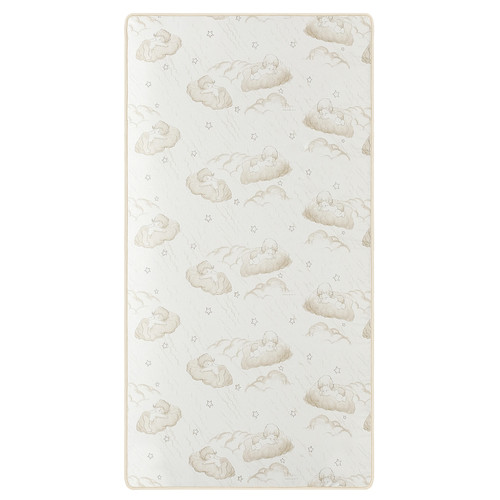 Dream On Me 2-in-1 Breathable Twilight 5 inch Spring Coil Crib and Toddler Bed Mattress - White/Brown