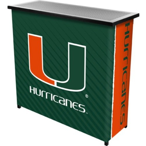 University of Miami Portable Bar with Carrying Case, Text
