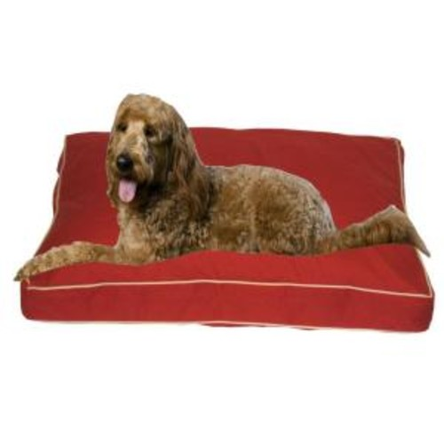 Large Classic Twill Rectangle Jamison Bed - Red