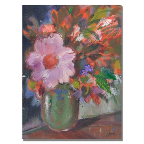Trademark Fine Art Shelia Golden 'Starry Night Bouquet' Canvas Art 24x32 Inches