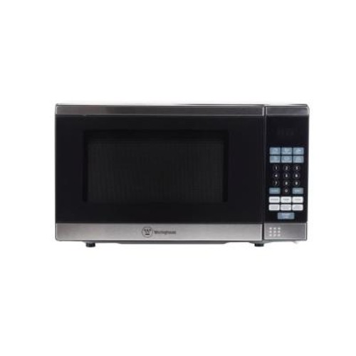 Westinghouse 0.7 cu. ft. Countertop Microwave in Black/Stainless Steel