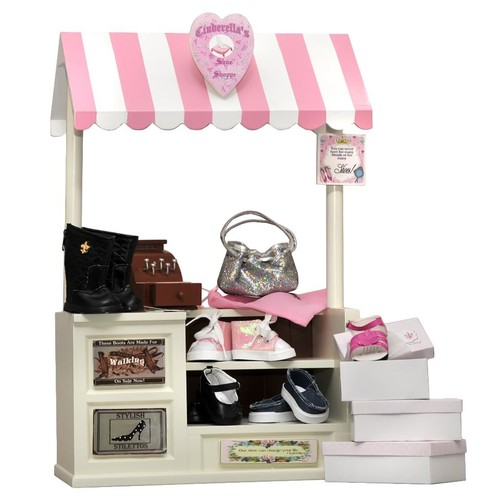 The Queen's Treasures Cinderella Shoe Shoppe and Accessories Set for 18 inch Doll