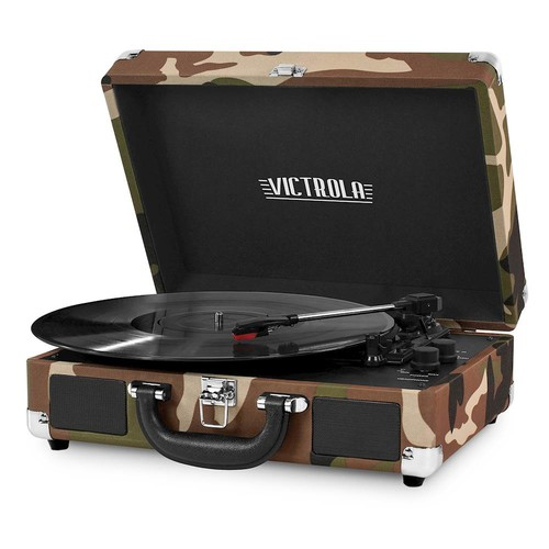 Victrola - Bluetooth Stereo Turntable - Camouflage green