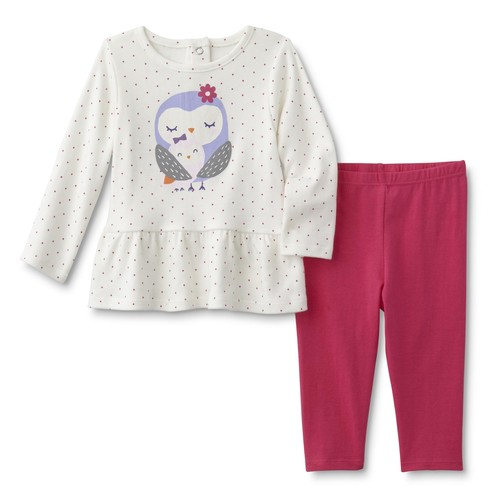 Little Wonders Infant Girls' Ruffle Top & Leggings - Owls [Age : Infant]