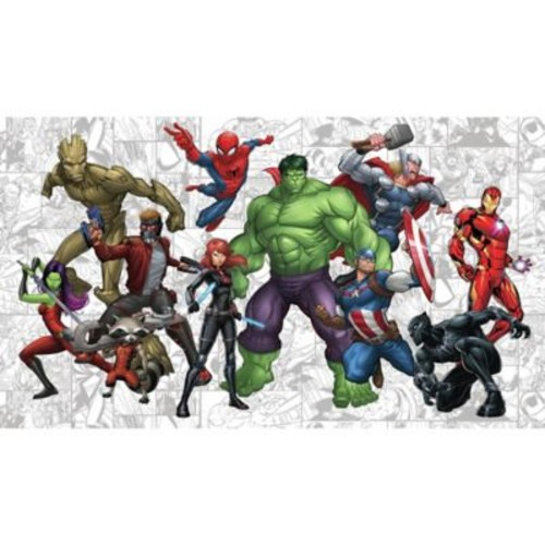 RoomMates Marvel Hero XL Chair Rail Pre-Pasted Mural