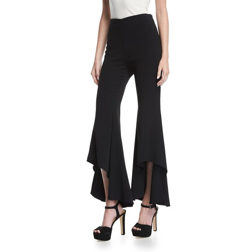 ALEXIS Jonah High-Waist High-Low Hem Crepe Pants