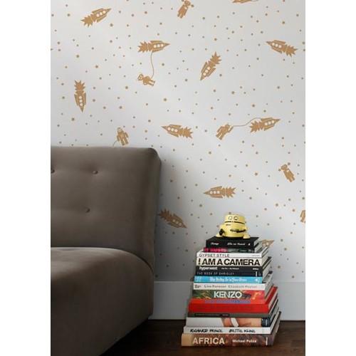 Astrobots Wallpaper in Sphinx design by Aimee Wilder