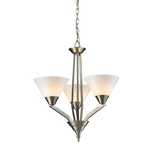 Thomas Lighting Tribeccca 3-light Chandelier, Brushed Nickel [Brushed Nickel]