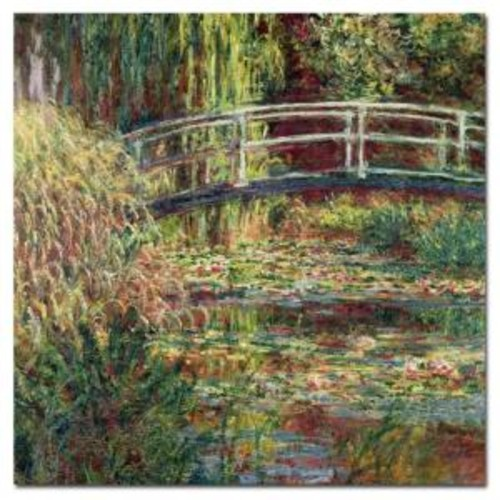 Trademark Fine Art 35 in. x 35 in. Waterlily Pond Pink Harmony Canvas Art