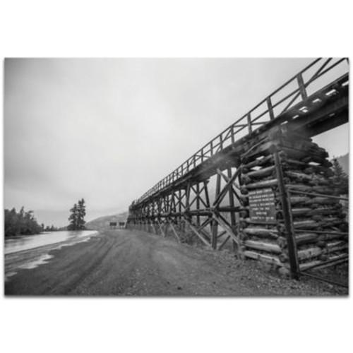 Metal Art Studio Old Railroad Bridge 32-Inch x 22-Inch Metal Wall Art