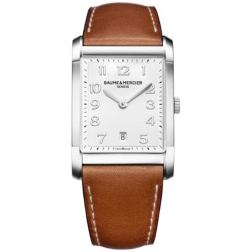 Baume & Mercier Men's Swiss Hampton Brown Leather Strap Watch 42x29mm M0A10153