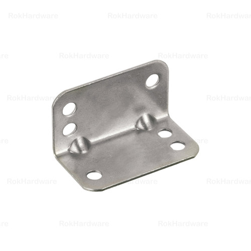 Rok Hardware Heavy Duty Metal Bracket Right Angle Brace 20 Gauge Zinc Finish (Pack of 100)
