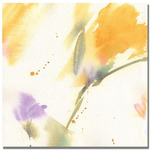 Shelia Golden 'Flowers Abstract' Canvas Art