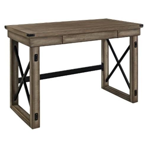 Dorel Wildwood Rustic Gray Desk