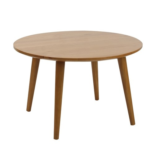 American Trails Mesa Mid Century Modern Round Coffee Table with Solid Cherry Wood Top