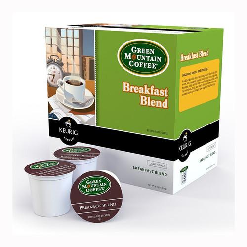 Green Mountain Breakfast Blend Coffee 18 Count K-Cups