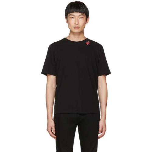 SAINT LAURENT Black 'Slow Kisses' T-Shirt