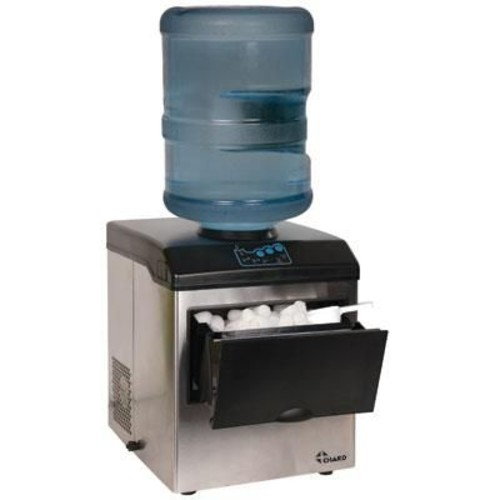 Chard 40 lbs. Ice Maker with Water Dispenser, Stainless Steel/Black (IM-15SS)