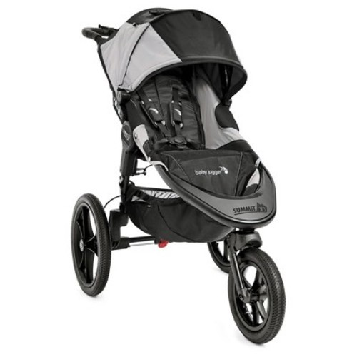 Baby Jogger Summit X3 Single Stroller in Black/Grey